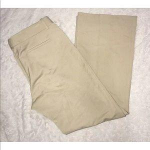 Tahari Arthur S. Levine Tan Pants Flat Frnt Khakis